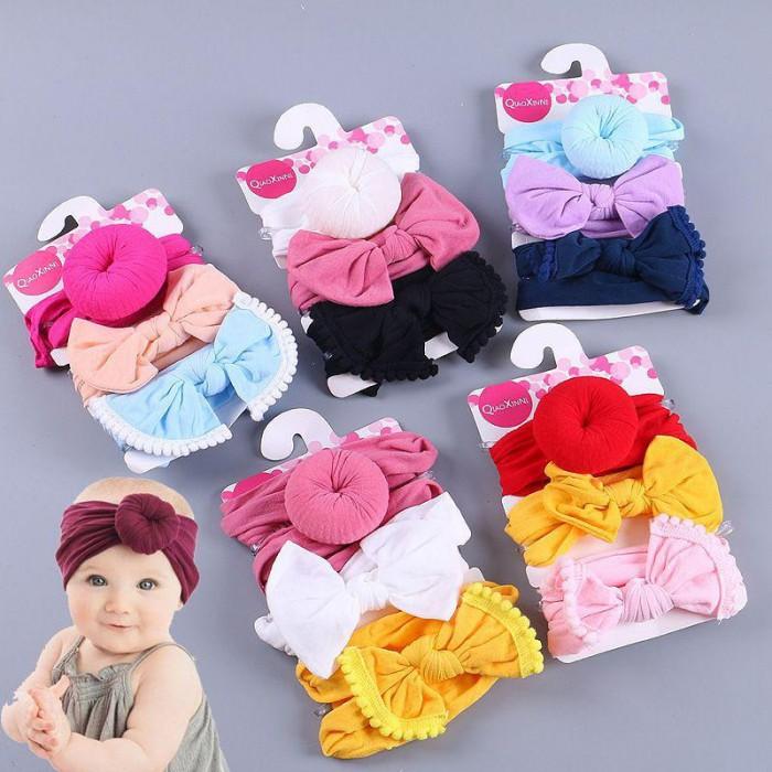 pakaian anak import BANDANA DONUT BABY
