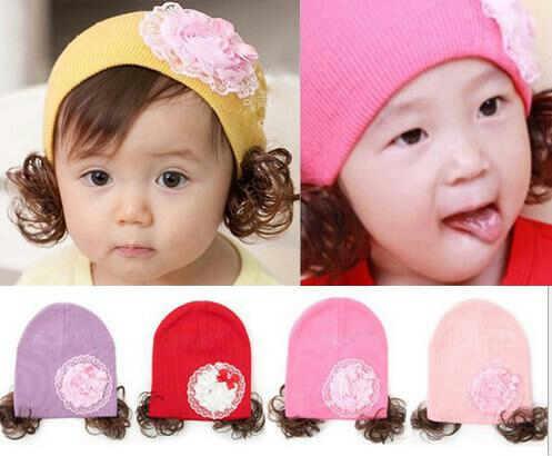 pakaian anak import BEANIE GIRL FLOWER