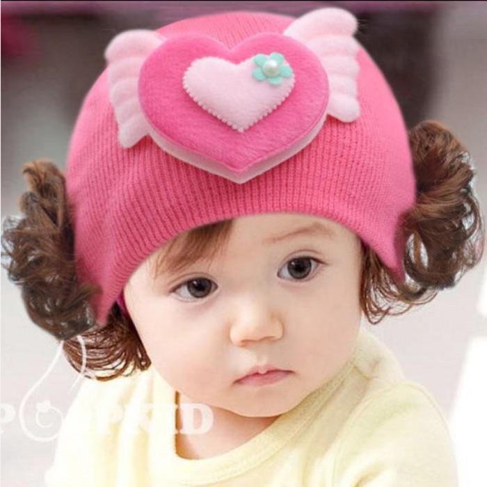 pakaian anak import BEANIE GIRL LOVE SAYAP