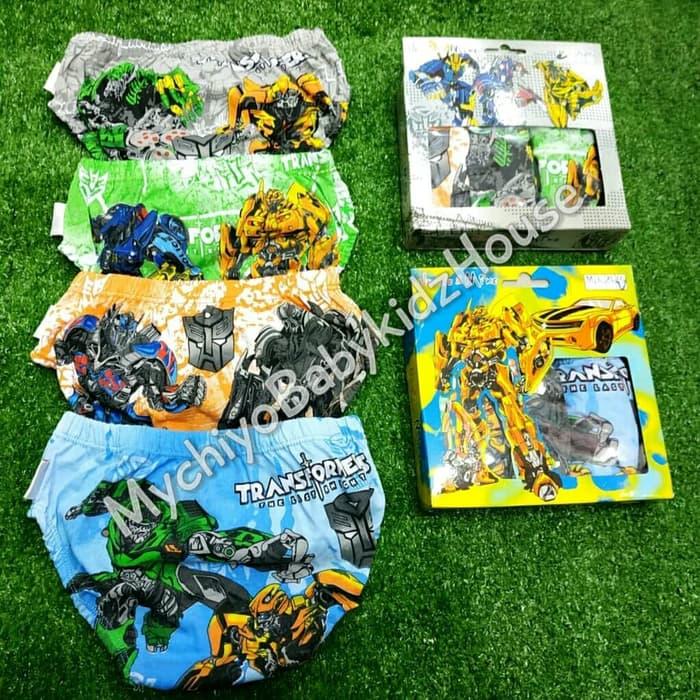 pakaian anak import CELANA DALAM ANAK 1BOX ISI 3PCS ROBOT