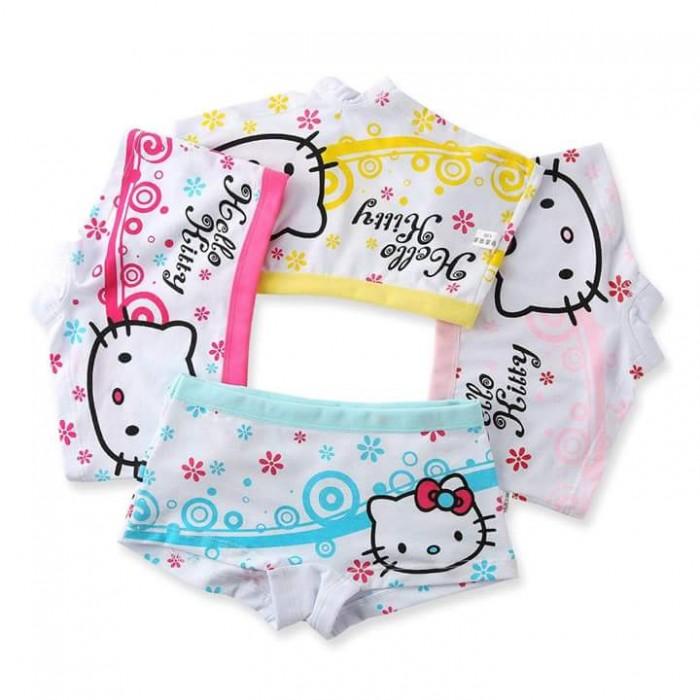 pakaian anak import CELANA DALAM/ BOXER ANAK 1SET ISI 4PCS HELLO KITTY