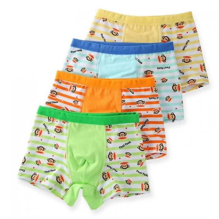 pakaian anak import CELANA DALAM/ BOXER ANAK 1SET ISI 4PCS PAUL FRANK LINE