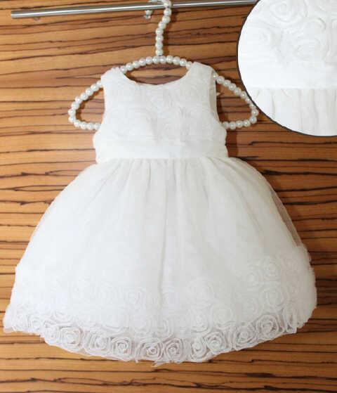 pakaian anak import DRESS BABY WHITE FLOWER