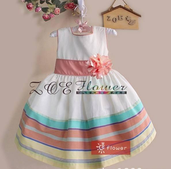 pakaian anak import DRESS CASUAL 1619 PEACH FLOWER