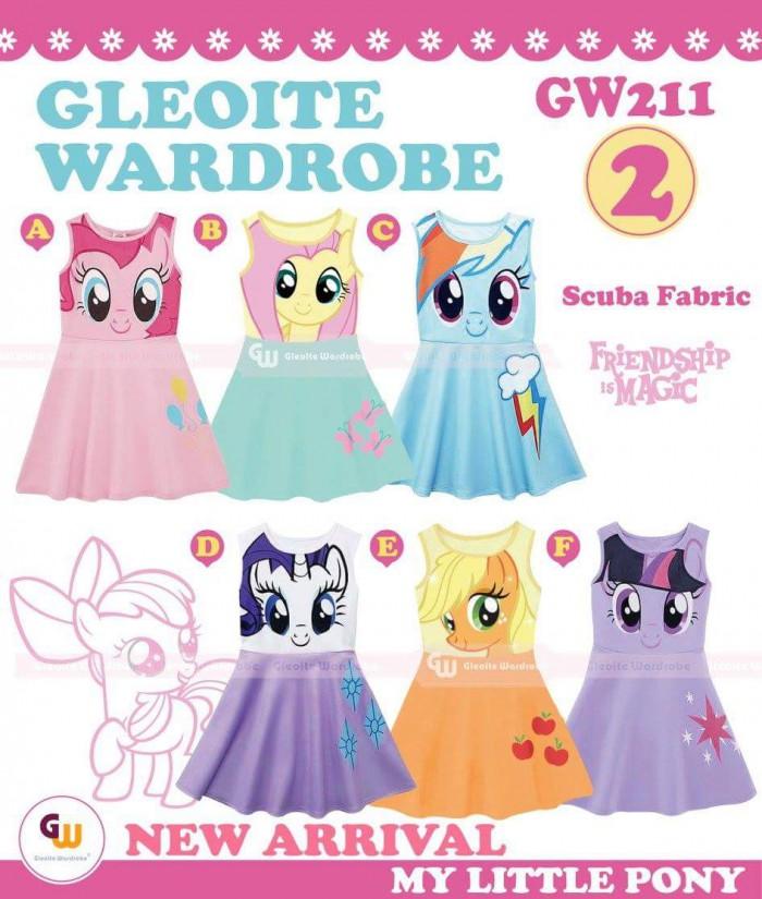 pakaian anak import DRESS CASUAL GW 211-2