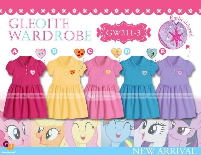 pakaian anak import DRESS CASUAL GW 211-3