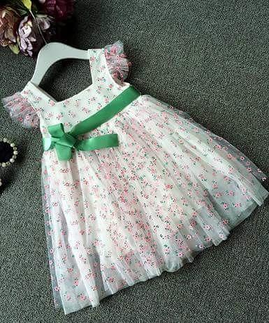 pakaian anak import DRESS CASUAL PUTIH
