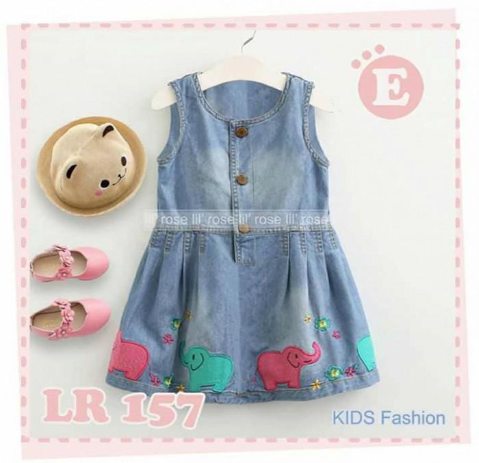pakaian anak import DRESS JEANS CASUAL 2449 JUNIOR