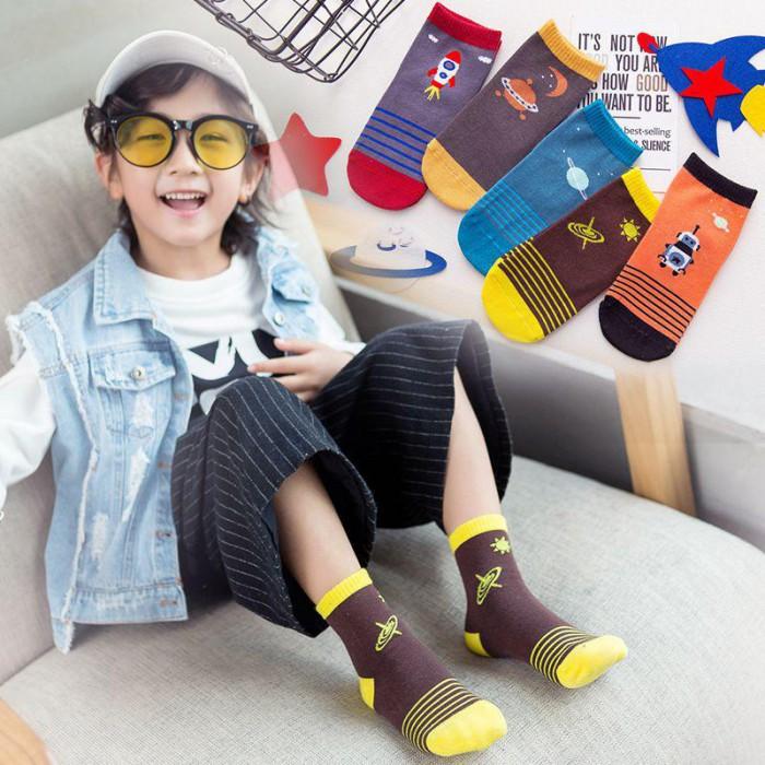 pakaian anak import KAUS KAKI ROCKET SPACE per pcs