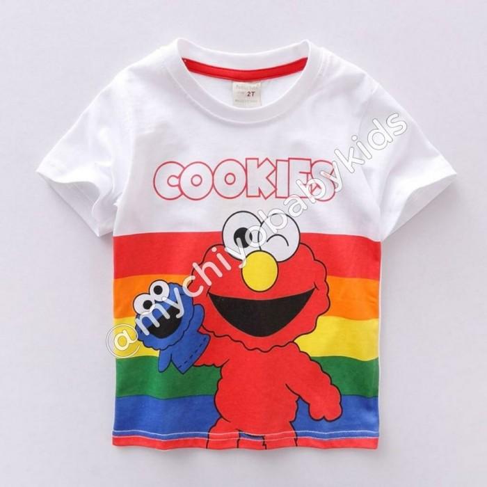 pakaian anak import KAUS SESAME STREET COOKIES