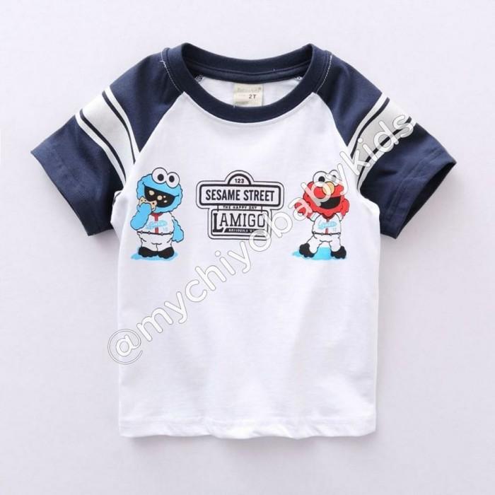 pakaian anak import KAUS SESAME STREET LAMIGO