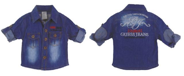 pakaian anak import KEMEJA JEANS PANJANG 1907