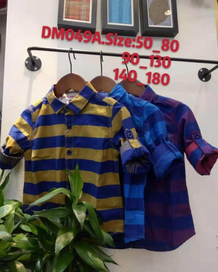 pakaian anak import KEMEJA PANJANG 2 GARIS KIDS