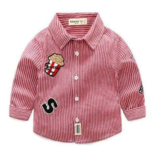 pakaian anak import KEMEJA PANJANG 2436