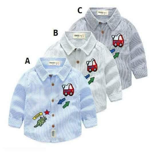 pakaian anak import KEMEJA PANJANG 2437