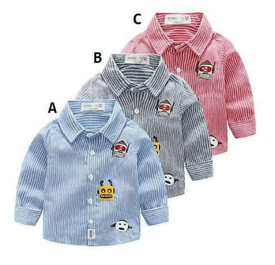 pakaian anak import KEMEJA PANJANG 2439