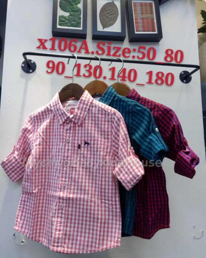 pakaian anak import KEMEJA PANJANG 2572 JUNIOR