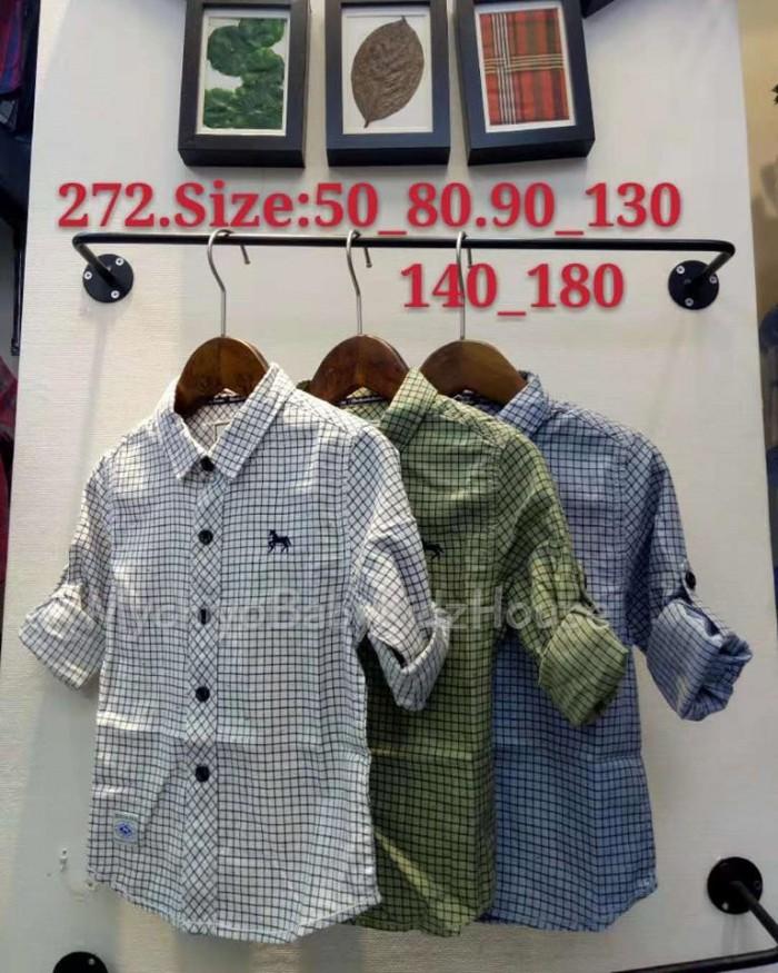 pakaian anak import KEMEJA PANJANG 2575 JUNIOR