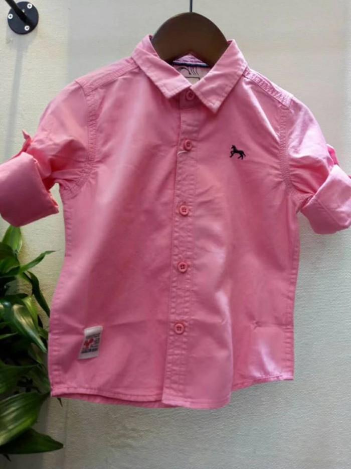 pakaian anak import KEMEJA PANJANG POLOS KIDS