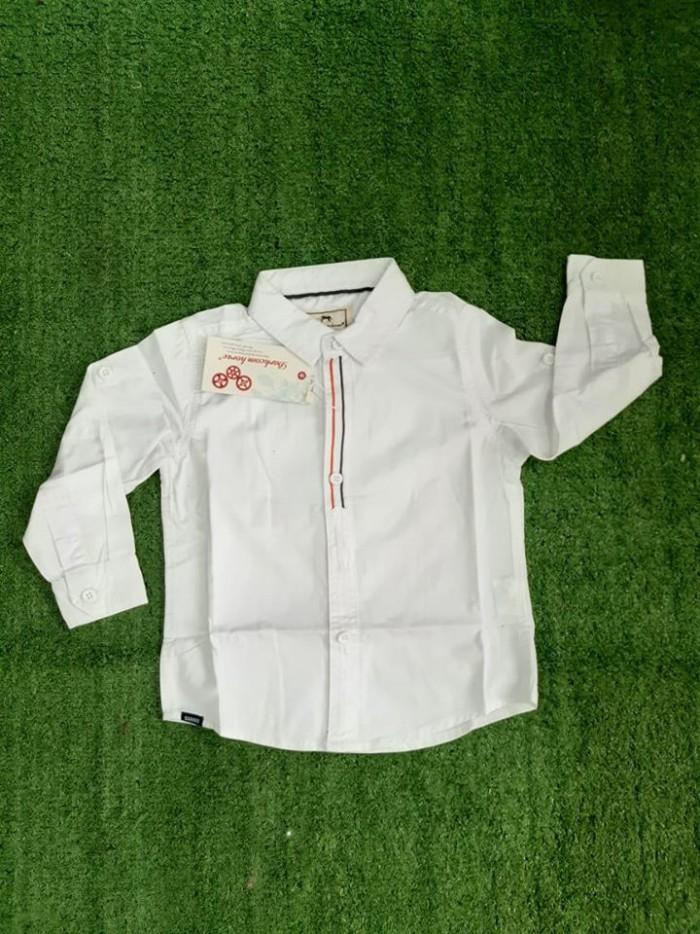 pakaian anak import KEMEJA PANJANG POLOS LIS BABY