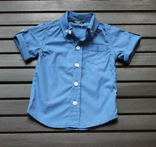 pakaian anak import KEMEJA PENDEK BLUE