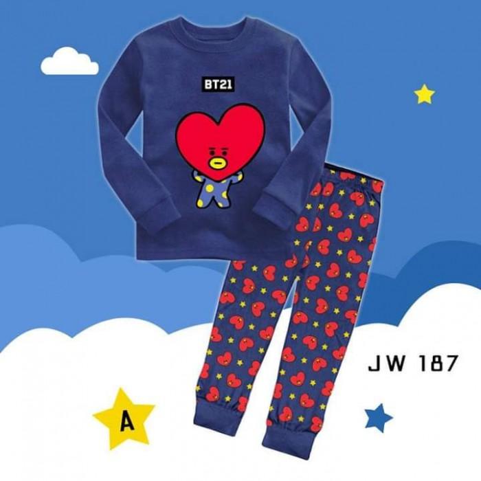 pakaian anak import PIYAMA JW187 A KIDS