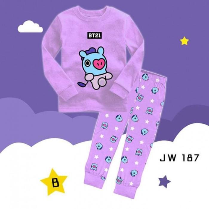 pakaian anak import PIYAMA JW187 B KIDS