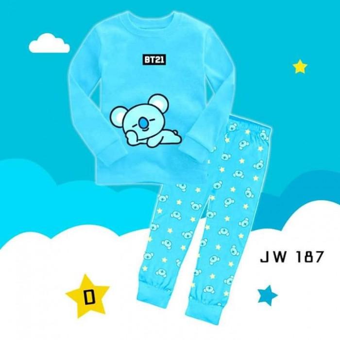 pakaian anak import PIYAMA JW187 D KIDS