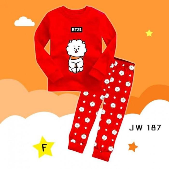 pakaian anak import PIYAMA JW187 F KIDS