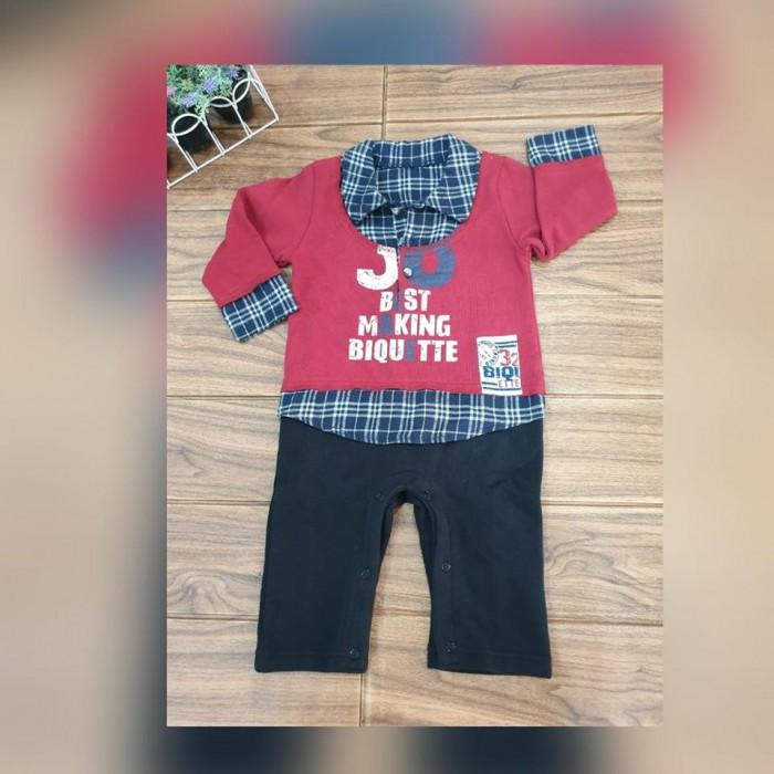 pakaian anak import ROMPER KOTAK2 KERAH