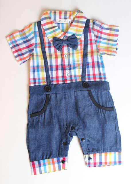 pakaian anak import ROMPER KOTAK2 RAINBOW
