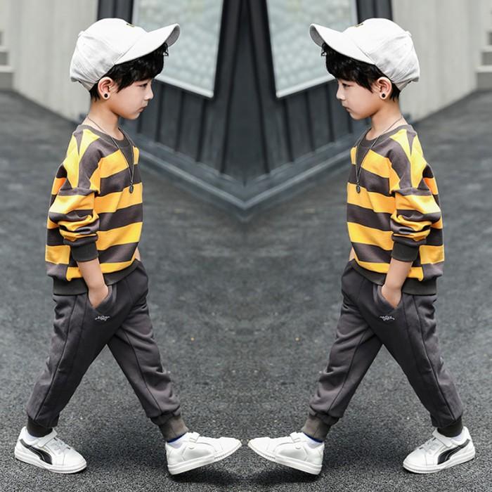 pakaian anak import SETELAN 2591 KUNING
