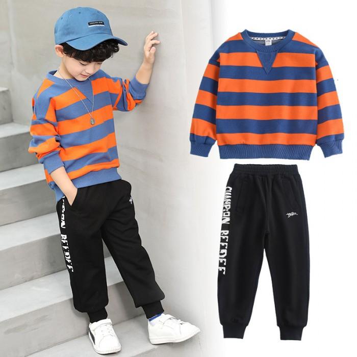 pakaian anak import SETELAN 2591 ORANGE