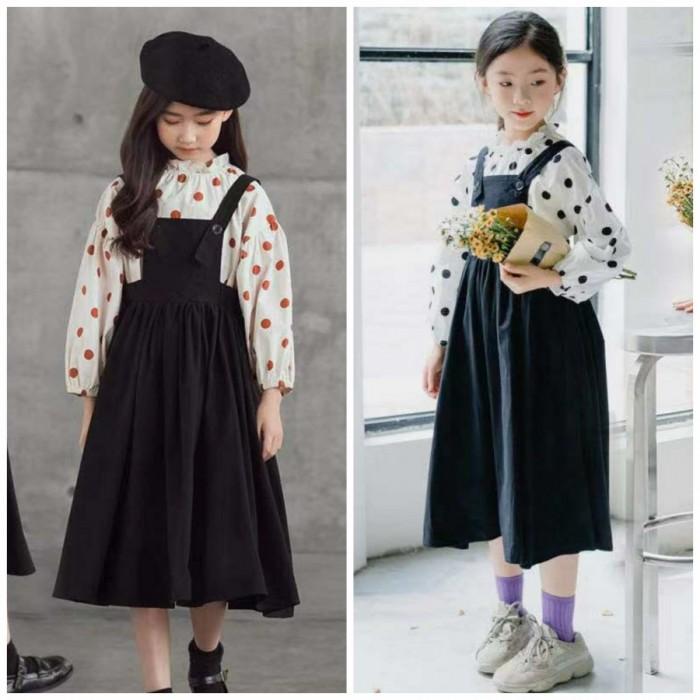 pakaian anak import SETELAN EXCLUSIVE OVERALL POLKADOT
