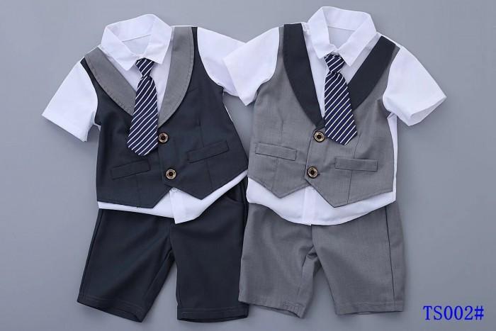 pakaian anak import SETELAN GENTLEMAN DASI PANJANG GARIS