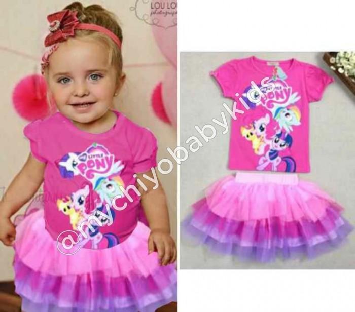 pakaian anak import SETELAN LITTLE PONNY TUTU