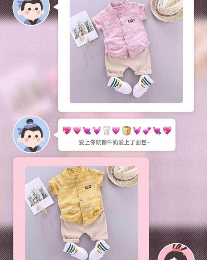 pakaian anak import SETELAN MOTIF ABJAD