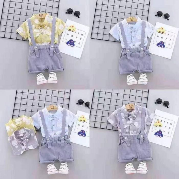 pakaian anak import SETELAN MOTIF BEAR
