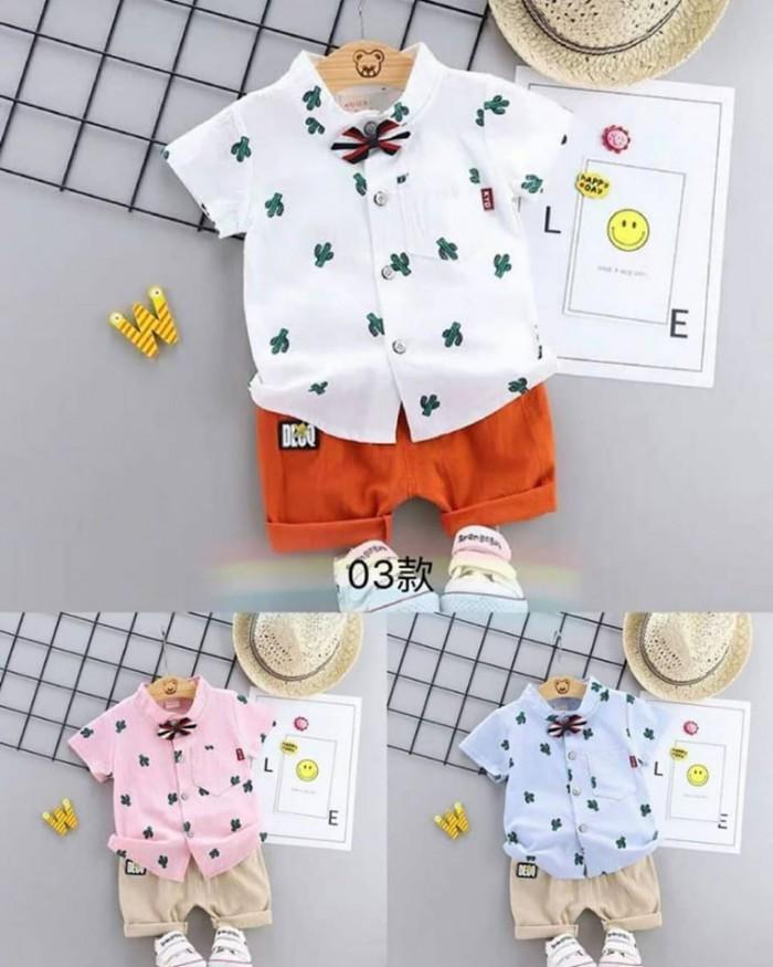 pakaian anak import SETELAN MOTIF KAKTUS