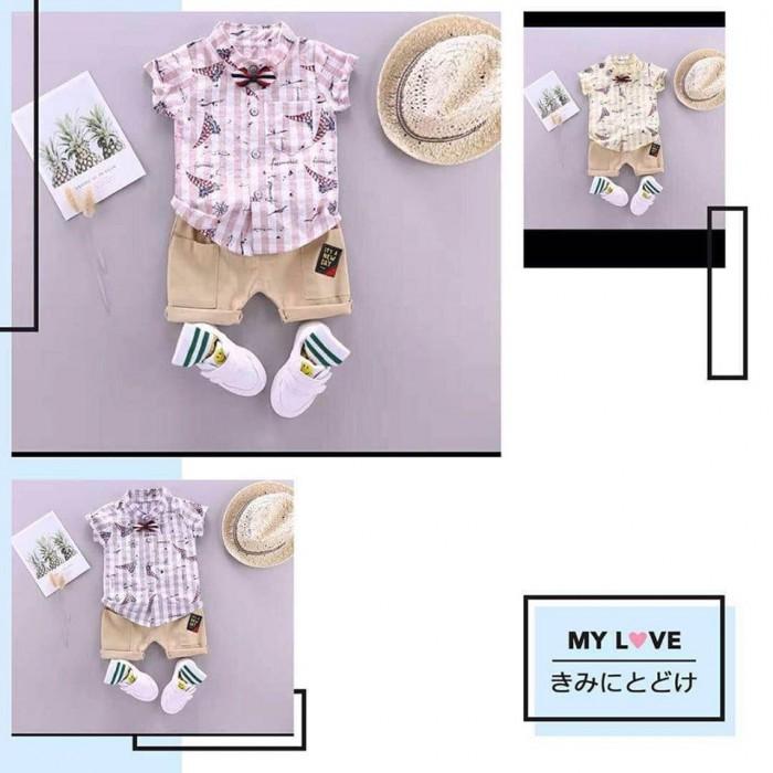 pakaian anak import SETELAN MOTIF PERAHU