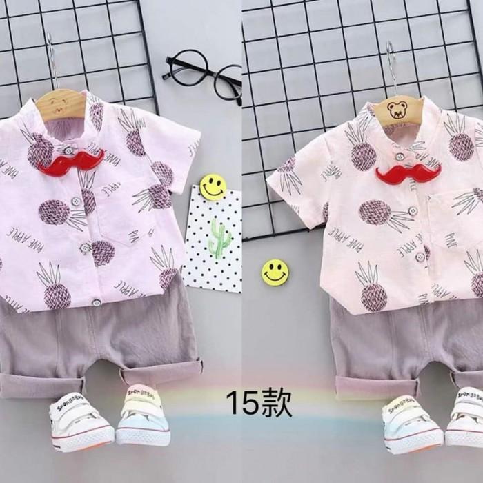 pakaian anak import SETELAN MOTIF PINEAPPLE