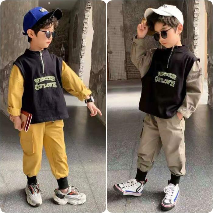 pakaian anak import SETELAN WINTER OF LOVE