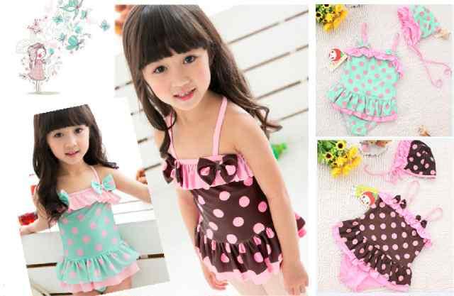pakaian anak import SWIMSUIT POLKA